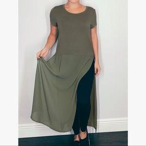 Cha Cha Vente Top Maxi Length Tunic T-shirt  Small